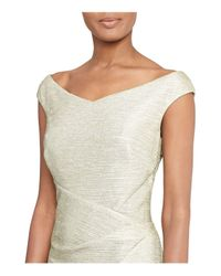 Ralph Lauren | Lauren Metallic Sheath Dress | Lyst