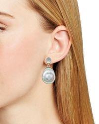 Chan Luu - Gray Freshwater Pearl Drop Earrings - Lyst