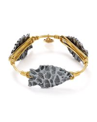 Bourbon and Boweties - Metallic Arrowhead Bangle - Lyst
