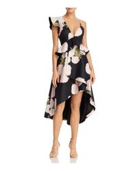 La Maison Talulah - Black New Woman Floral Print Midi Dress - Lyst
