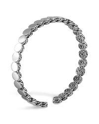 John Hardy | Metallic Dot Silver Slim Flex Cuff | Lyst