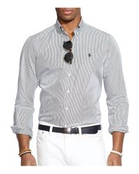 Polo Ralph Lauren - Black Hairline-striped Poplin Button-down Shirt - Classic Fit for Men - Lyst