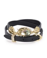Alexis Bittar - Black Studded Golden Array Wrap Bracelet - Lyst