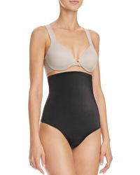 Tc Fine Intimates - Black High-waisted Moderate Control Thong - Lyst
