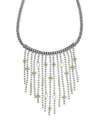 Lagos - Metallic 'caviar Icon' Rope Bib Necklace - Lyst
