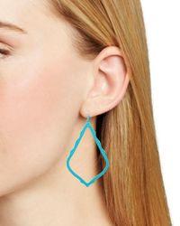 Kendra Scott - Blue Sophee Matte Drop Earrings - Lyst