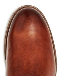 Frye - Brown Women's Melissa Button 2 Extended Calf Leather Tall Boots - Lyst