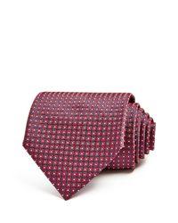 Ermenegildo Zegna - Red Geometric Dot Classic Tie for Men - Lyst