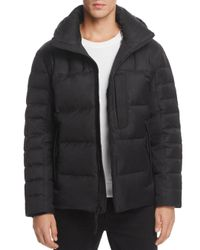 Andrew Marc - Black Breuil Mid-length Puffer Jacket for Men - Lyst