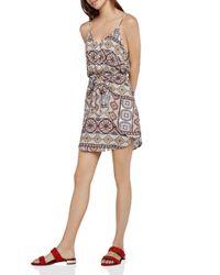 BCBGeneration - Multicolor Tropical Tie-front Dress - Lyst