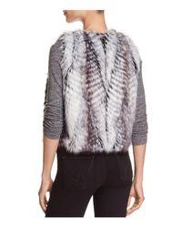 T Tahari - Gray Ramona Faux Fur Vest - Lyst