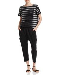 Eileen Fisher - Black Slouchy Cropped Pants - Lyst