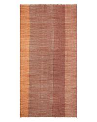 Eileen Fisher - Orange Ombré Color Block Scarf - Lyst