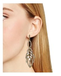 ABS By Allen Schwartz - Metallic Leaf Chandelier Earrings - Lyst