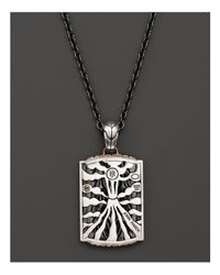 John Hardy - Men's Bedeg Black Sapphire Cross Dog Tag Necklace for Men - Lyst