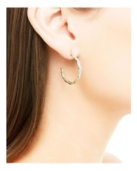 John Hardy - Metallic Classic Chain 18k Gold Diamond Pavé Small Hoop Earrings - Lyst