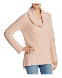 Calvin Klein - Multicolor Cowl Neck Chunky-knit Sweater - Lyst