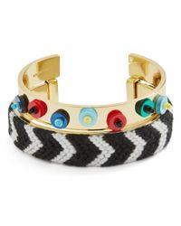 BaubleBar - Metallic Etana Sequined & Woven Open Cuff Bracelets - Lyst