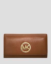 MICHAEL Michael Kors | Brown Fulton Carryall Wallet | Lyst