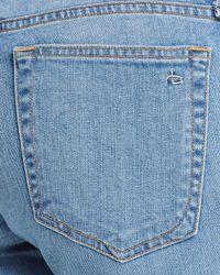 Rag & Bone - Blue Dre Released Hem Slim Boyfriend Jeans In Sunbury With Hole - Lyst