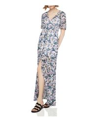 BCBGeneration - Multicolor Slit Floral Print Maxi Dress - Lyst