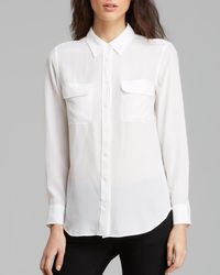 Equipment | White Shirt - Slim Signature Silk | Lyst