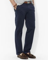 Polo Ralph Lauren   Blue Flat-front Chino Pants - Classic Fit for Men   Lyst
