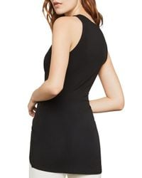 BCBGMAXAZRIA - Black Crossover High/low Tunic - Lyst