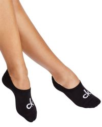 Calvin Klein Black Sporty Logo Liner Socks