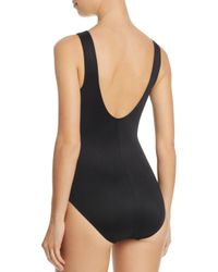 Miraclesuit - Black Side Show One Piece Swimsuit - Lyst