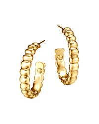John Hardy - Metallic Bedeg 18k Gold Small Hoop Earrings - Lyst