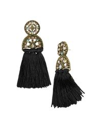BaubleBar - Black Pisa Tassel Drop Earrings - Lyst