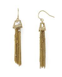 Alexis Bittar - Metallic Chain Tassel Drop Earrings - Lyst