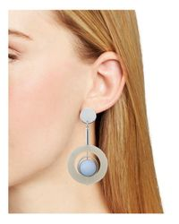 Aqua - Blue Matte Ball Earrings - Lyst