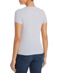 C By Bloomingdale's - Blue Short Sleeve Cashmere Sweater - Lyst