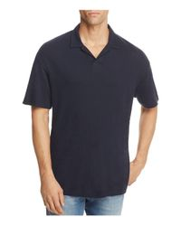 Theory - Blue Open Collar Short Sleeve Polo Shirt for Men - Lyst