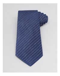 Armani - Blue Heathered Diagonal Stripe Classic Tie for Men - Lyst