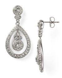 Nadri   Metallic Open Drop Earrings   Lyst