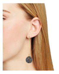 Aqua   Metallic Reese Crystal Ball Drop Earrings   Lyst