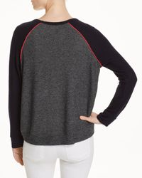 Sundry - Gray Piped Color-block Sweatshirt - Lyst