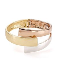 Robert Lee Morris | Multicolor Tri-tone Bypass Bangle | Lyst