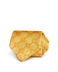 Canali - Metallic Large Medallion Classic Tie for Men - Lyst