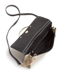 MILLY - Black Astor Flap Leather Crossbody - Lyst