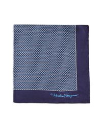 Ferragamo - Blue Gancini Arch Pocket Square for Men - Lyst