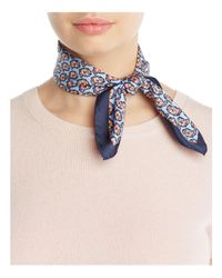 Tory Burch | Blue Paisley Silk Neck Scarf | Lyst