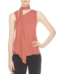 Haute Hippie - Multicolor Golden Hour Neck Sash Silk Top - Lyst