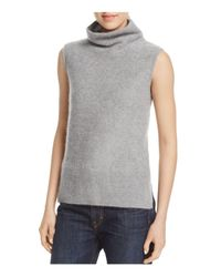 Vince - Gray Sleeveless Cashmere Sweater - Lyst
