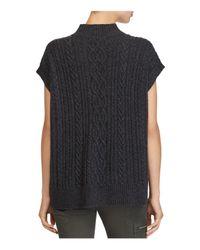 Ralph Lauren - Black Lauren Mock Neck Cable-knit Sweater - Lyst