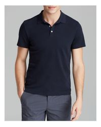 Theory | Blue Boyd Census Solid Pique Polo - Slim Fit for Men | Lyst