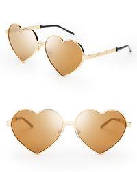 Wildfox - Metallic Mirrored Lolita Deluxe Sunglasses, 59mm - Lyst